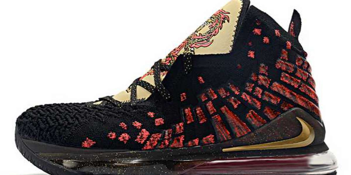 "Nike LeBron 17 ""Courage"" Black/Red-Metallic Gold 2020 CD5054-001 For Sale Online"