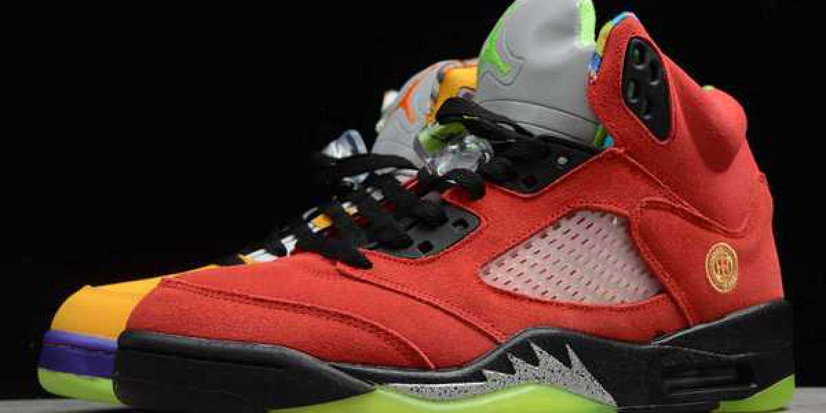 "Nike Jordan shoes that boys and girls can buy! The eight-in-one Air Jordan 5 ""What The"" is now on sale."