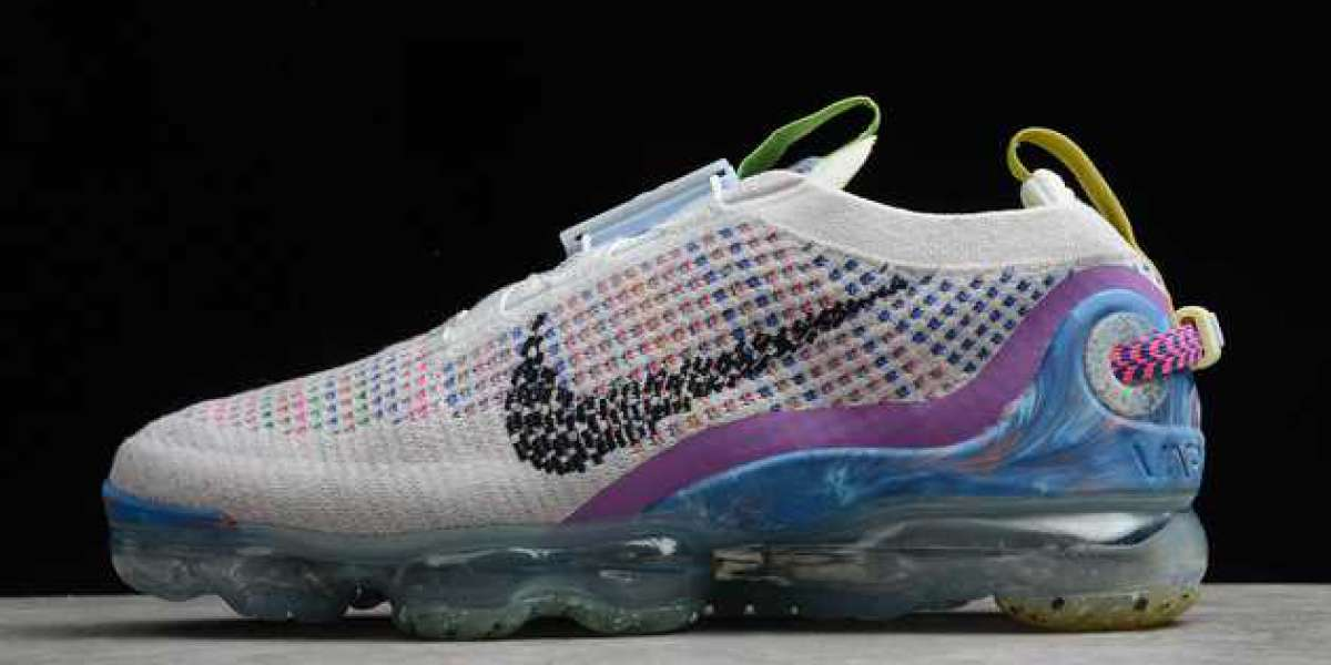 Nike Air VaporMax Flyknit Pure Platinum/Multi-Color 2020 Newest CJ6740-001