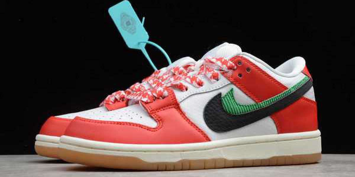"""Frame Skate x Nike SB Dunk Low """"Habibi"""" Chile Red/White-Lucky Green-Black 2020 Newest CT2550-600"""